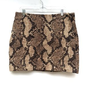 H&M Python Snake Print Woven Mini Skirt 14